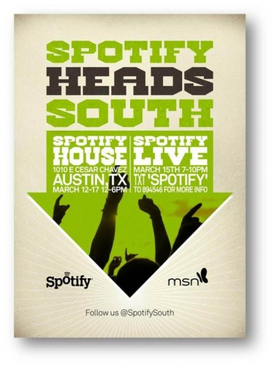 Spotify Heads South